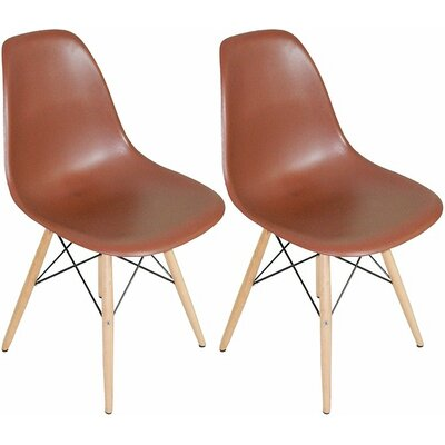Paris Tower Solid Wood Dining Chair Finish: Chocolate