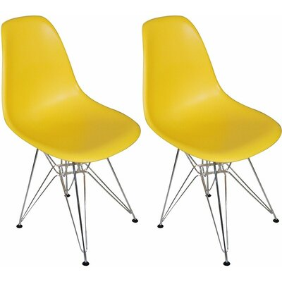 Paris Tower Side Chair Finish: Yellow