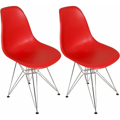 Paris Tower Side Chair Finish: Red