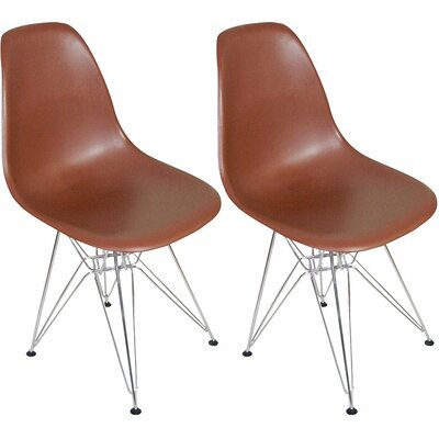 Paris Tower Side Chair Finish: Chocolate