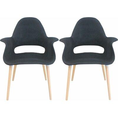 Morza Arm Chair Upholstery: Black