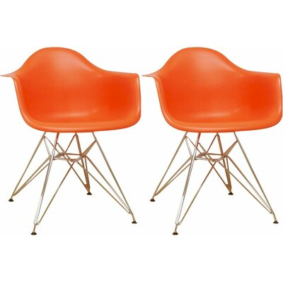 Paris Tower Arm Chair Finish: Orange
