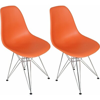 Paris Tower Side Chair Finish: Orange