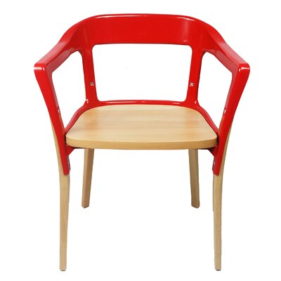 Jasper Solid Wood Dining Chair Finish: Red