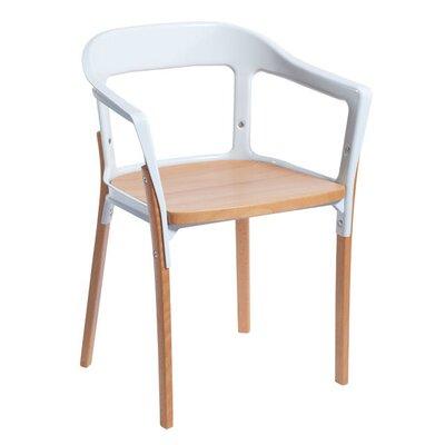 Jasper Arm Chair Finish: White