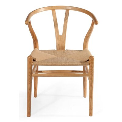 W Solid Wood Dining Chair Finish: Natural