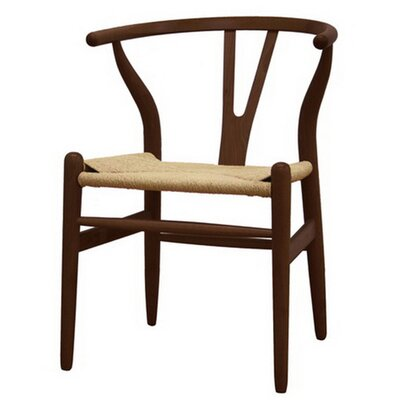 W Solid Wood Dining Chair Finish: Walnut