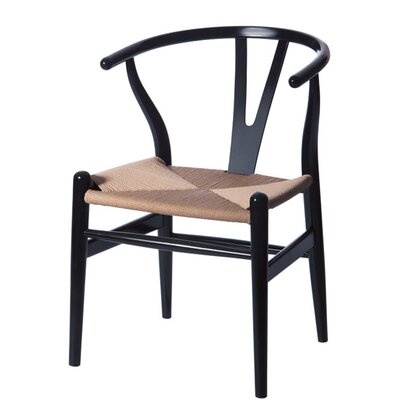 W Side Chair Finish: Black