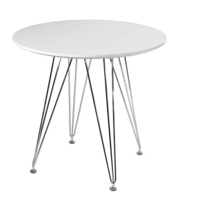 Paris Tower Dining Table Top Finish: White