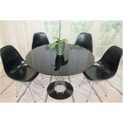 Twist 5 Piece Dining Set Finish: Black
