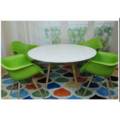 Paris Tower 5 Piece Dining Set Finish: Green