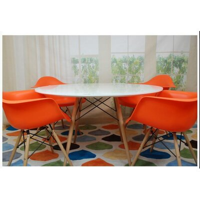 Paris Tower 5 Piece Dining Set Finish: Orange