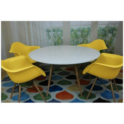Paris Tower 5 Piece Dining Set Finish: Yellow