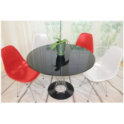 Twist 5 Piece Dining Set Finish: White/Red