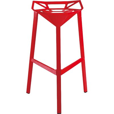 33 inch Bar Stool Finish: Red