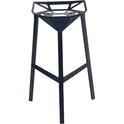 33 Bar Stool Finish: Black