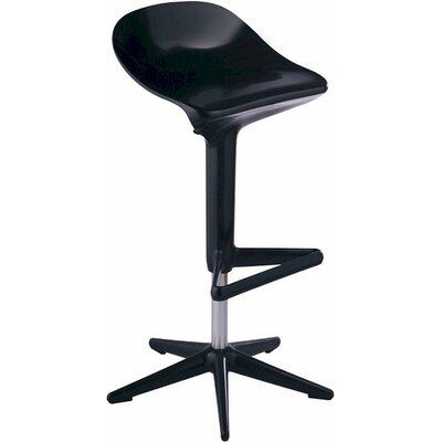 Starfish Adjustable Height Swivel Bar Stool Upholstery: Black