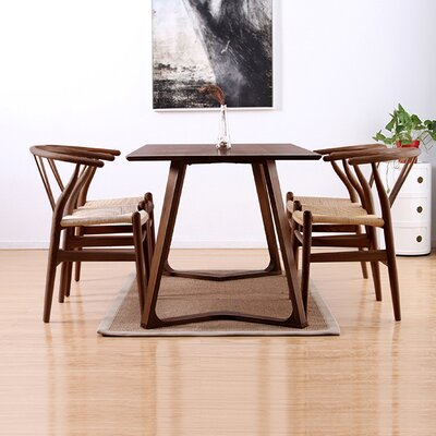 Modern V 5 Piece Dining Set Finish: Walnut