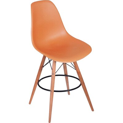 Paris Tower 27 Bar Stool Upholstery: Orange