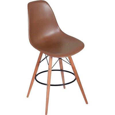 Paris Tower 27 Bar Stool Upholstery: Chocolate