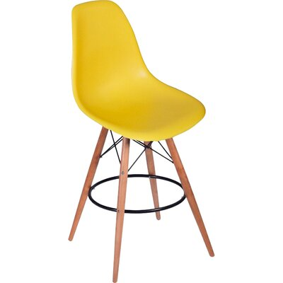 Paris Tower 27 Bar Stool Upholstery: Yellow