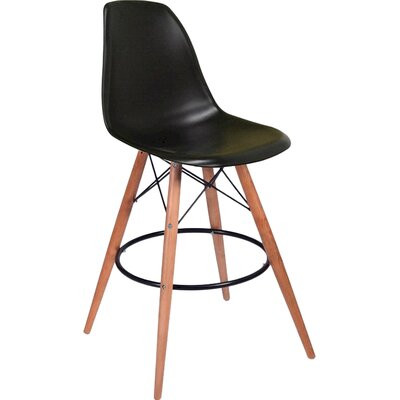 Paris Tower 27 Bar Stool Upholstery: Black