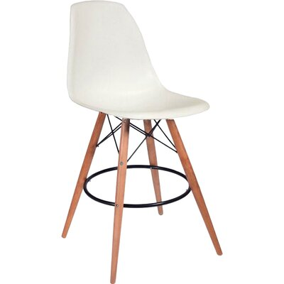 Paris Tower 27 Bar Stool Upholstery: White