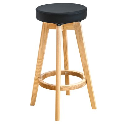 26 Swivel Bar Stool Upholstery: Black