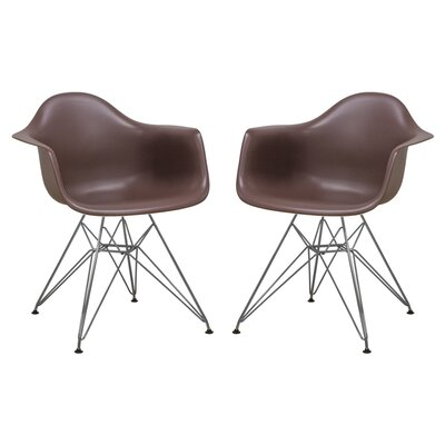 Paris Tower Arm Chair Finish: Chocolate