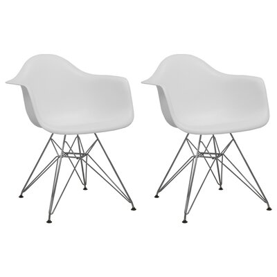 Paris Tower Arm Chair Finish: White