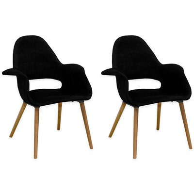 Morza Arm Chair Upholstery: Black