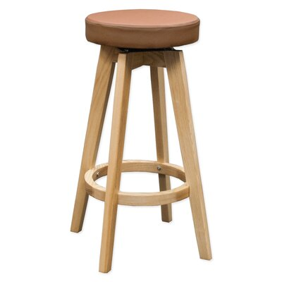 26 Swivel Bar Stool Upholstery: Brown