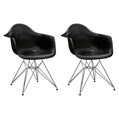 Paris Tower Arm Chair Finish: Black