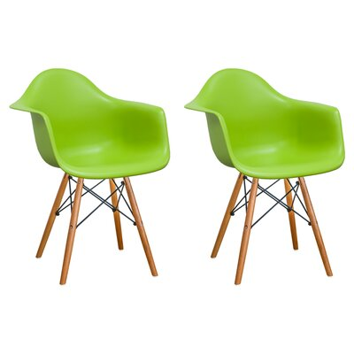 Paris Tower Arm Chair Finish: Green