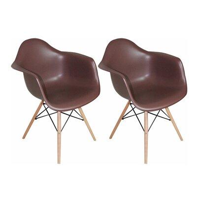 Paris Tower Arm Chair Finish: Chocolate