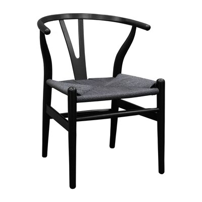 W Solid Wood Dining Chair Finish: All Black