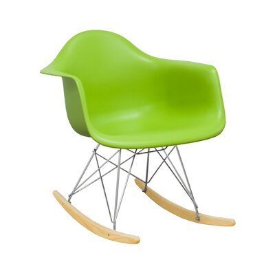Paris Tower Solid Wood Dining Chair Finish: Green