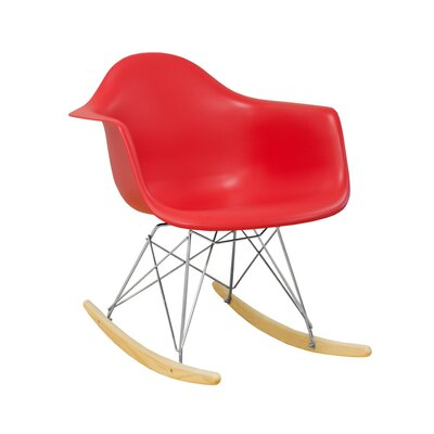 Paris Tower Arm Chair Finish: Red