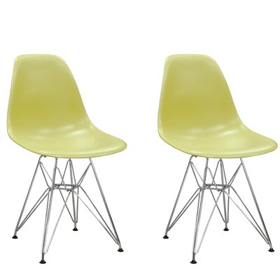 Paris Tower Side Chair Finish: Green