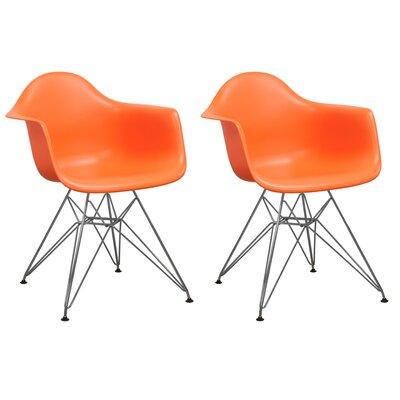 Paris Tower Arm Chair Finish: Orange