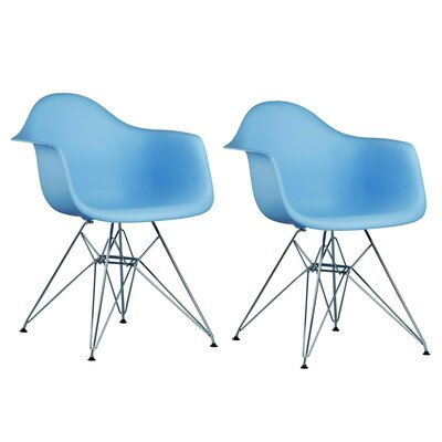 Paris Tower Arm Chair Finish: Blue