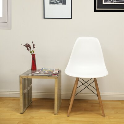 Paris Tower Solid Wood Dining Chair Finish: White