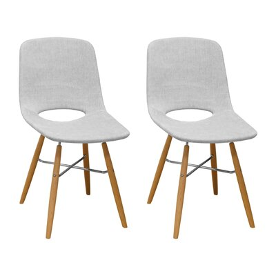 Jedidiah Upholstered Dining Chair Color: Light Gray