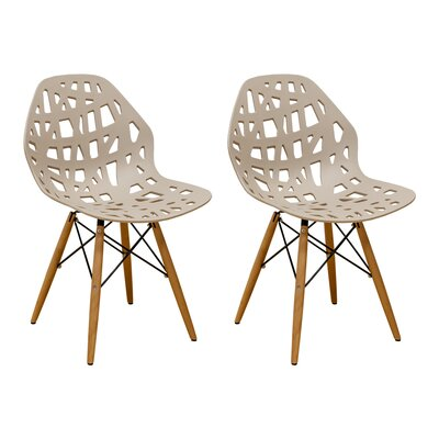 Josiah Stencil Cut Out Eiffel Dining Chair Color: Taupe