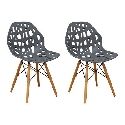 Josiah Stencil Cut Out Eiffel Dining Chair Color: Dark Gray