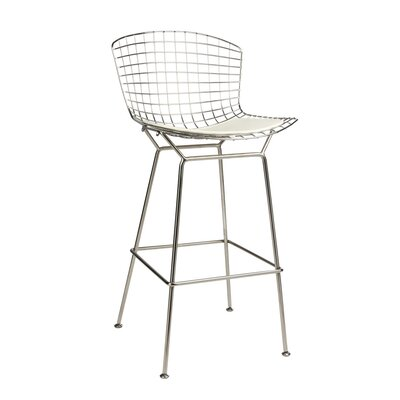 Gosnells 28 Bar Stool Color: White