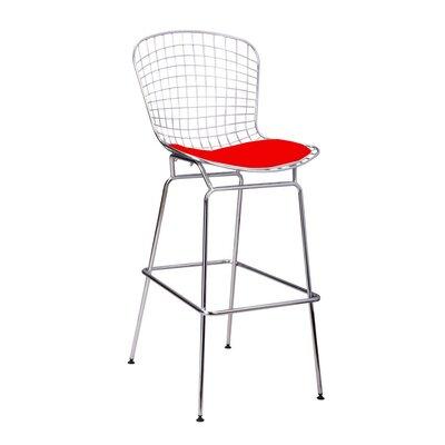 Gosnells 28 Bar Stool Color: Red