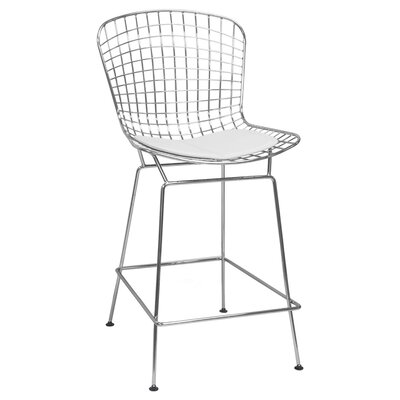 Gorgias 24 Bar Stool Color: White