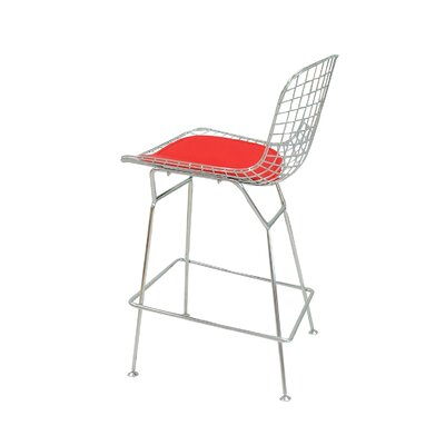 Gorgias 24 Bar Stool Color: Red