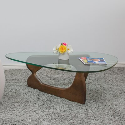 Tribeca Coffee Table Base Color: Walnut